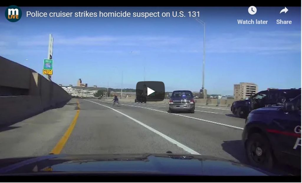 Police SUV Runs Over Murderer In US131 Shootout