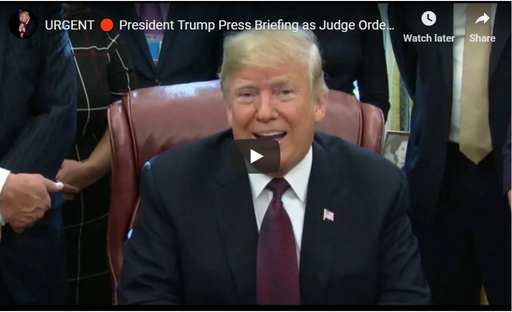 Trump Press Gaggle — 'I Will Win The CNN Case' … 'I Answered The Mueller Questions Myself'