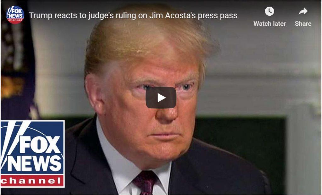 President Threatens To BAN Jim Acosta … AGAIN