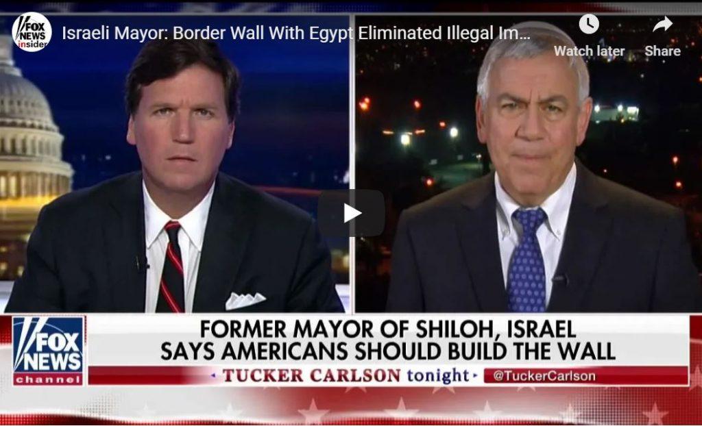 Israel Mayor … Build The (Damn) Wall, It Works!