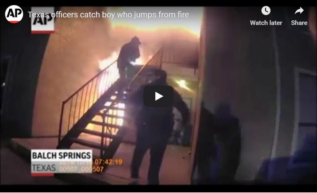 Hero Firefighters Catch 4 Year-Old Boy Who Jumps From Burning Apartment … Caught On Tape