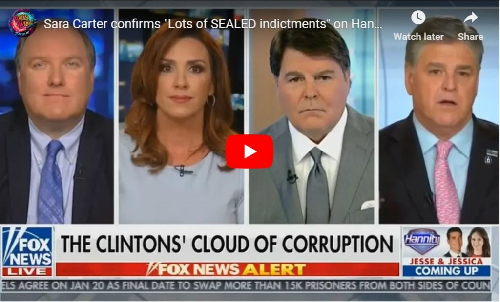 Sara Carter – 'Lots of Sealed Indictments Sean, Something's Brewing Here From Prosecutors'…