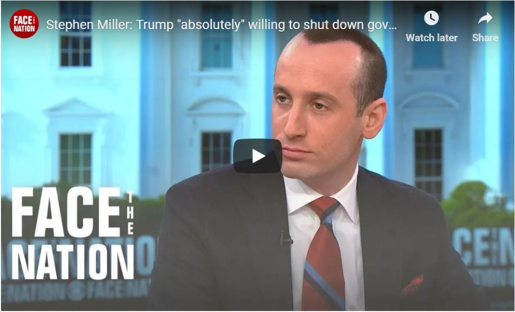 Stephen Miller: 'Obamacare Is Unconstitutional, And Trump WILL Absolutely Shut Down Govt'…