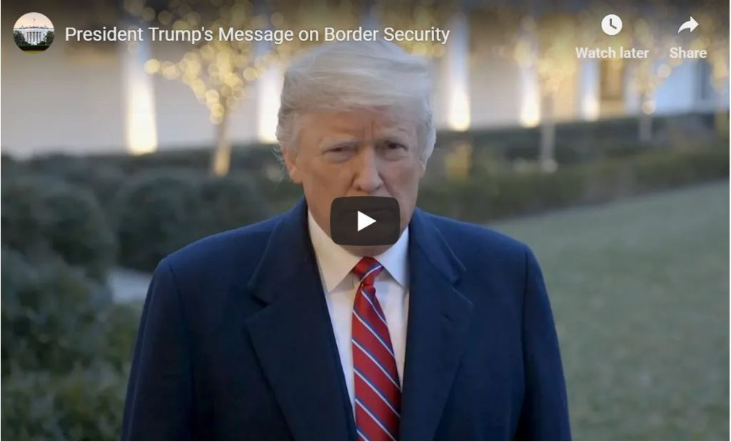 Trump Tweets Fantastic Border Wall Video – Highly Embarrassing For Democrats Including Schumer…