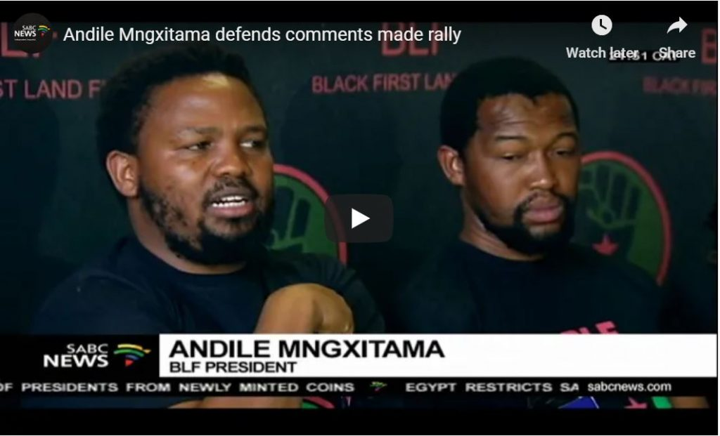 Black South African Leader – 'We Must Kill Whites – Kill Their Women And Children Too'…