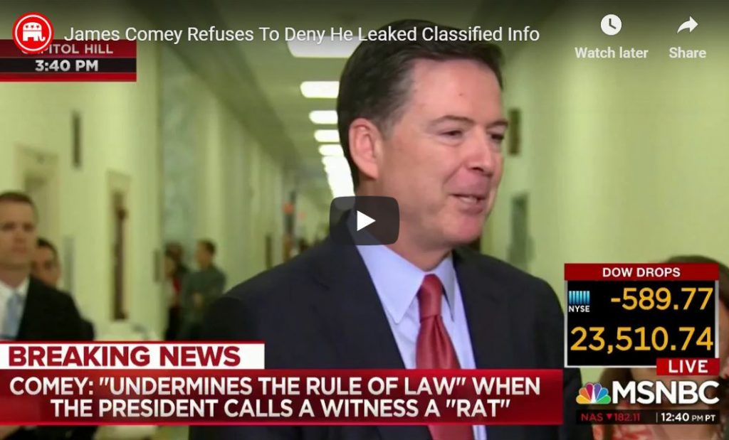 Catherine Herridge Challenges Comey To His Face – 'Did You Leak Classified Information?'…