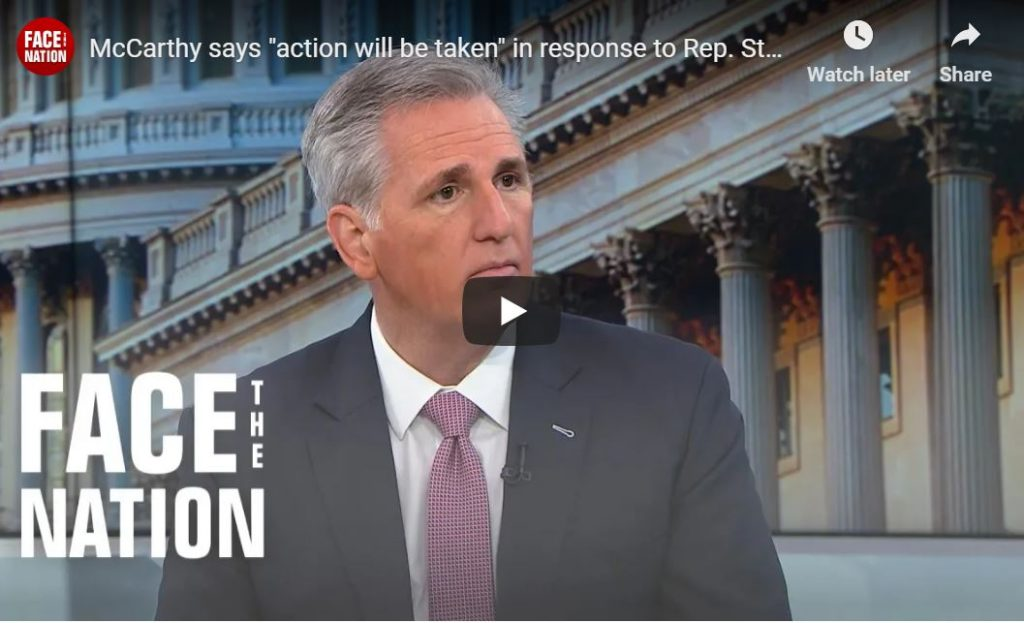 McCarthy: Action Will Be Taken Against Steve King…