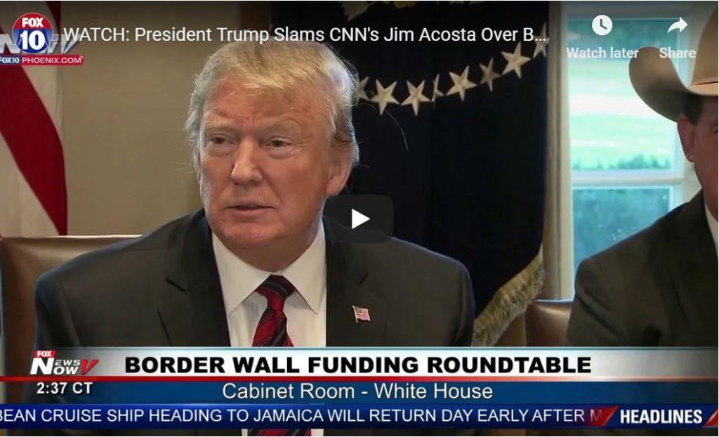 Hilarious: Trump Trolls Acosta To His Face…