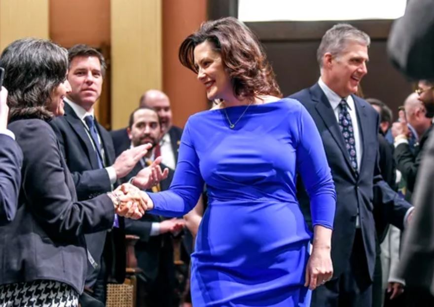 Michigan Governor's Tight Dress Causes Furor…