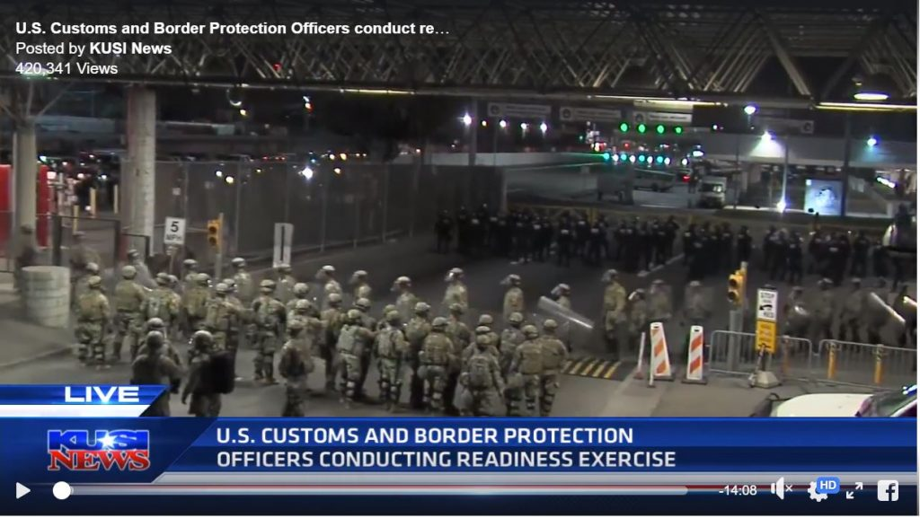 BOOM! Massive Military Exercises At U.S. Southern Border – A Precursor To National Emergency?