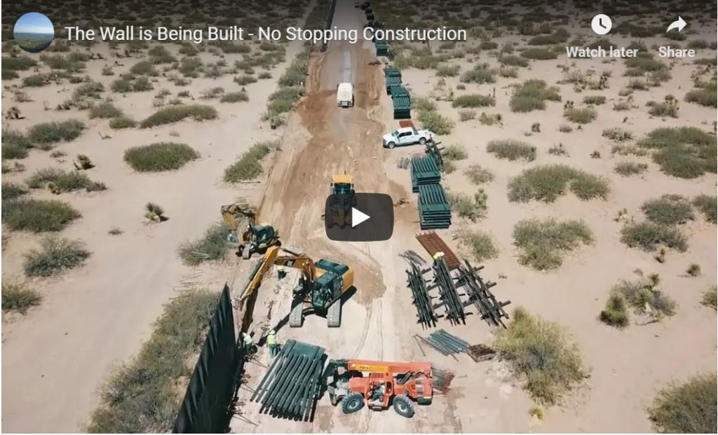 Cool Drone Footage From The Desert | This Certainly Looks Like Border Wall Construction…