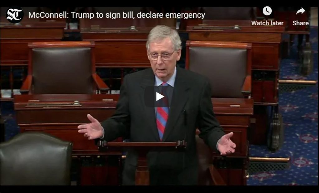 MCCONNELL: I SUPPORT NATIONAL EMERGENCY