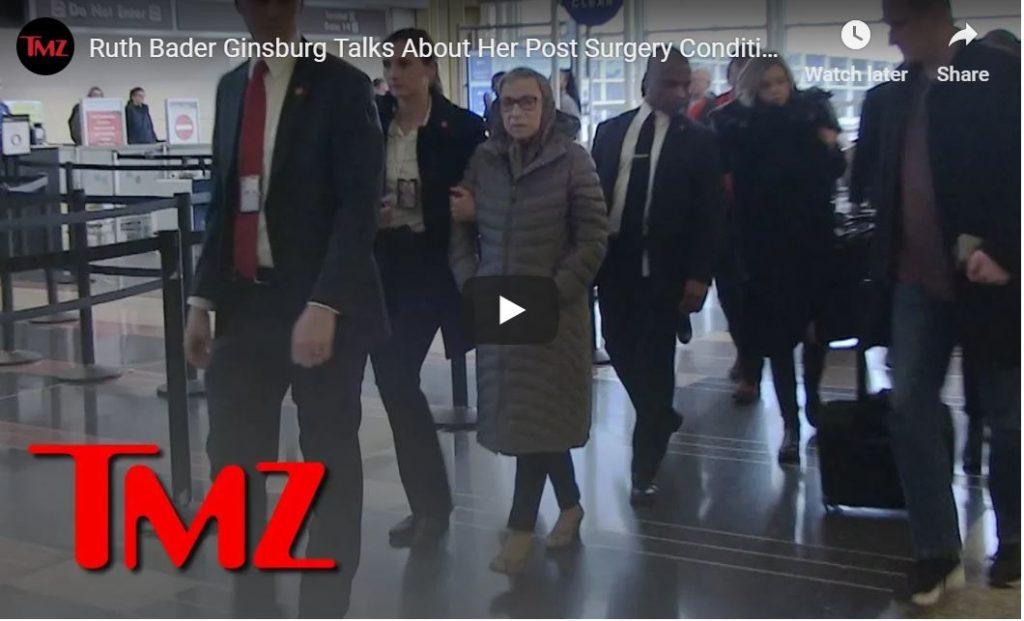 TMZ Catches Ruth Bader Ginsburg At DC Airport…
