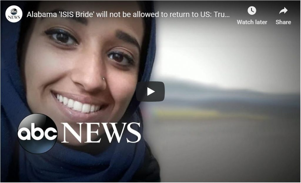 Pompeo Stops ISIS Bride From Returning To USA…