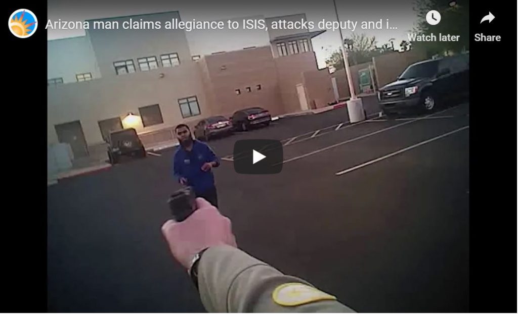 AWESOME VIDEO RELEASED – Arizona ISIS Jihadi Goes Down With 2 Shots To The Knees…