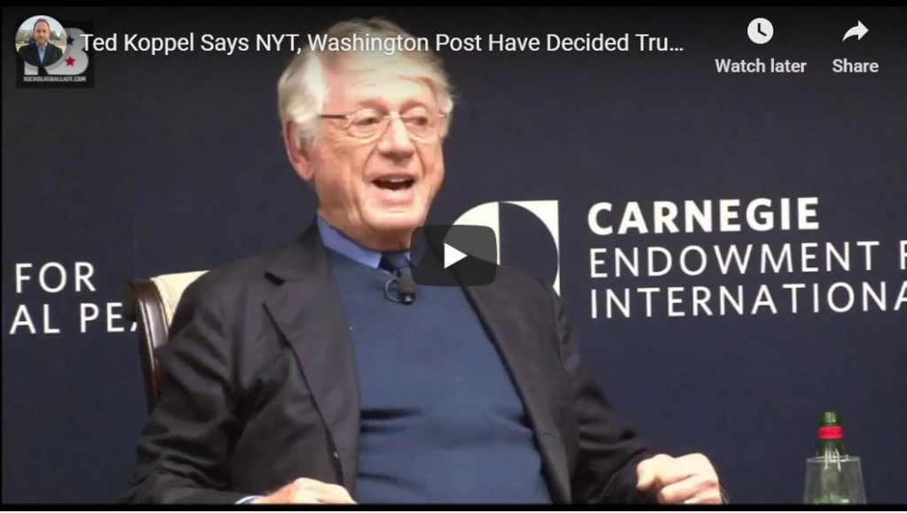 Ted Koppel ANNIHILATES NY Times, Wash Post…