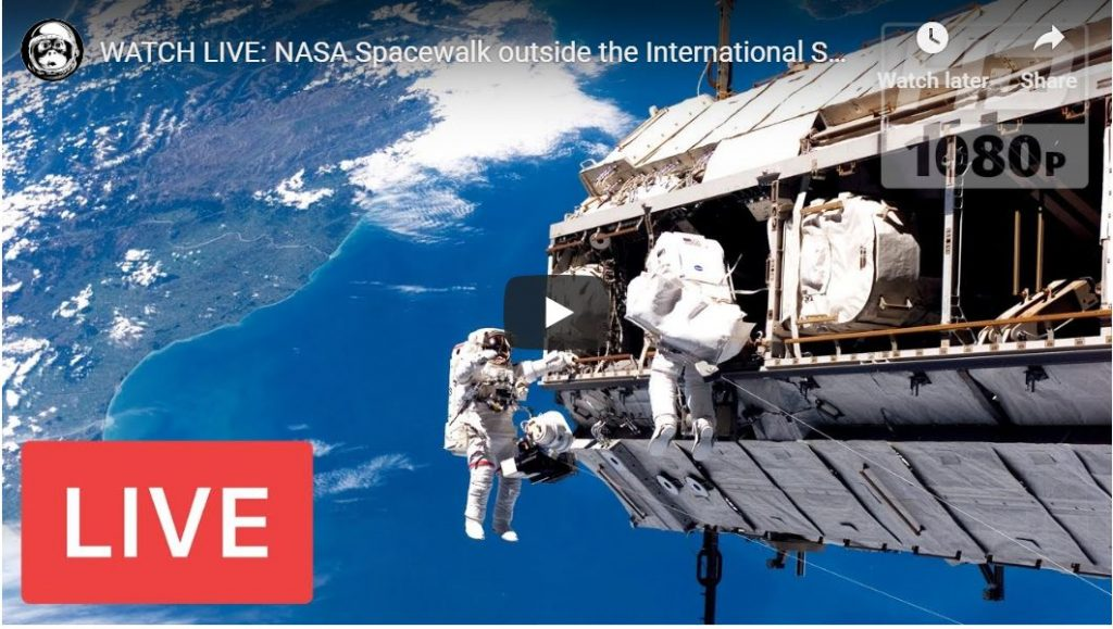 WATCH LIVE – U.S. Astronauts Spacewalk Outside International Space Station…