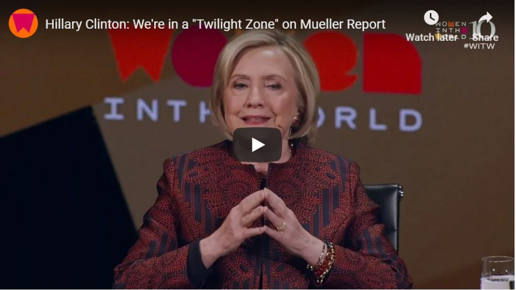 Collusion Artist Hillary Still Can't Accept Defeat…