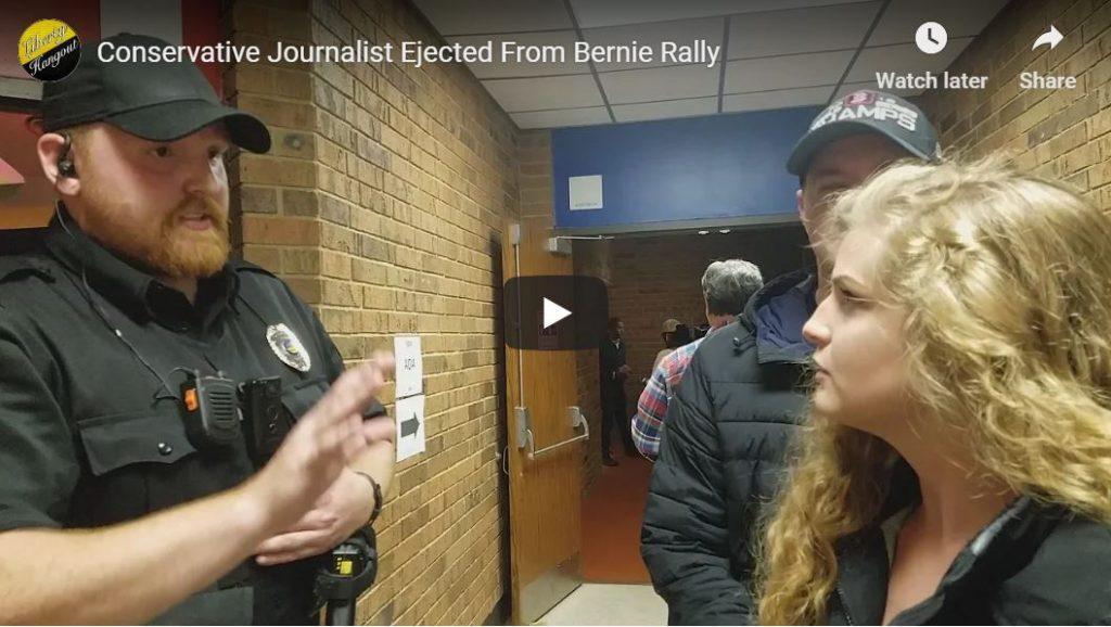 Kaitlin Bennett gets kicked out of Bernie speech…