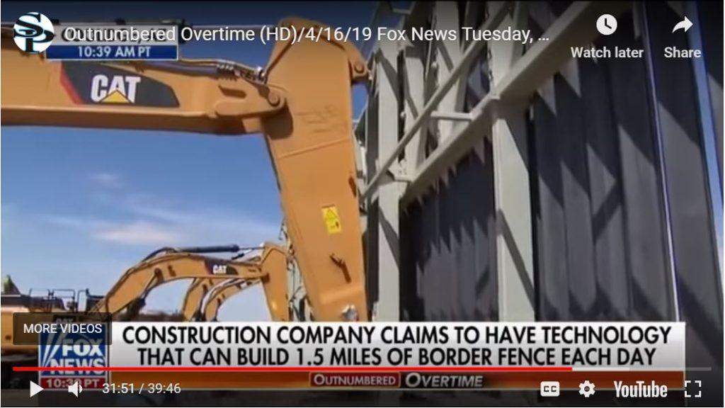 Impressive Wall Construction Displayed For Senators