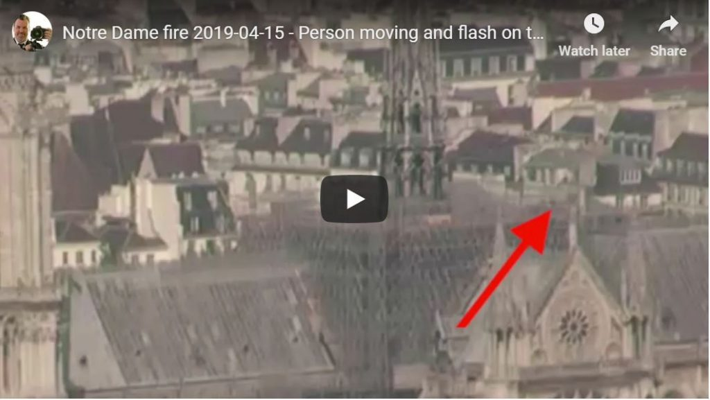 Notre Dame – Suspicious Person, Flash On Roof…