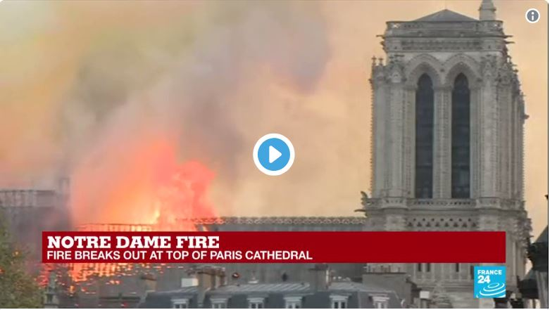 Notre Dame worker says fire was 'deliberately set'