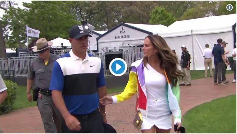 Brooks Koepka wins PGA Championship, but shuts down girlfriend who wanted a kiss…