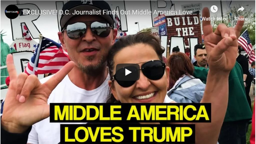 Great clip of middle Americans who love Trump…