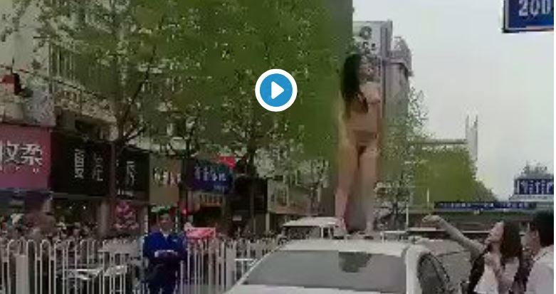 Naked Feminist Dances On Someone Else's Car — Learns A Painful Lesson The Hard Way…