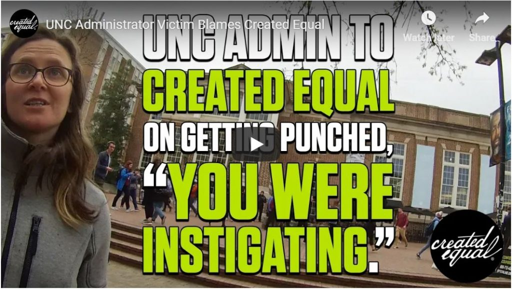 UNC tries to protect triggered feminist from arrest