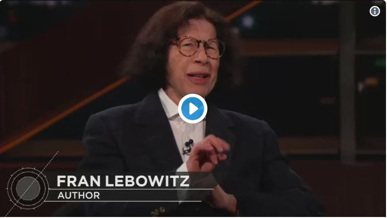 Fran Lebowitz suggests murdering the President…