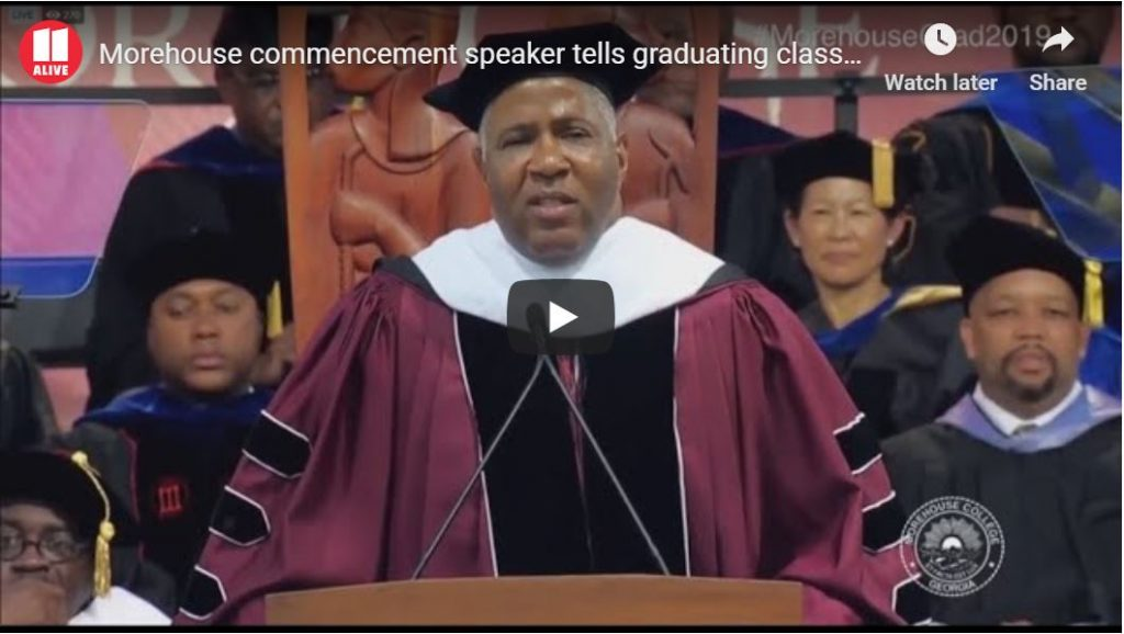 Morehouse graduates get shock of lifetime… Billionaire speaker will pay off all their student loans