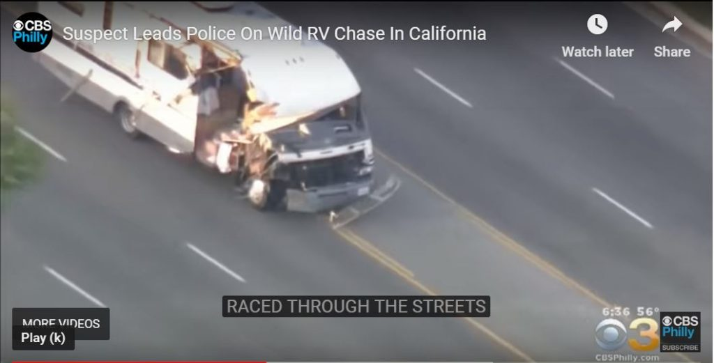 Drunk woman steals RV, then all hell breaks loose, cars rammed, dogs fly out (intense video)…