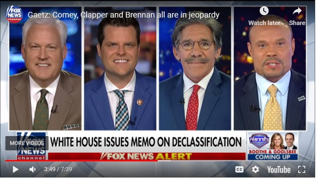 GREAT SHOW: Bongino subs for Hannity with Matt Gaetz, Sidney Powell, Tom Fitton, and Sara Carter…