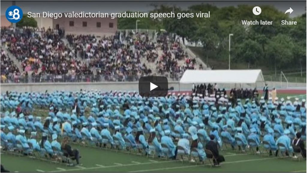 Here's the Valedictorian speech everyone's talking about… Student blasts 'super drunk' teacher…