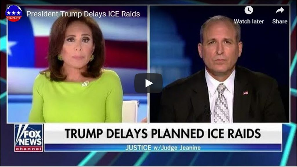 ICE Boss… Why the raids were cancelled…