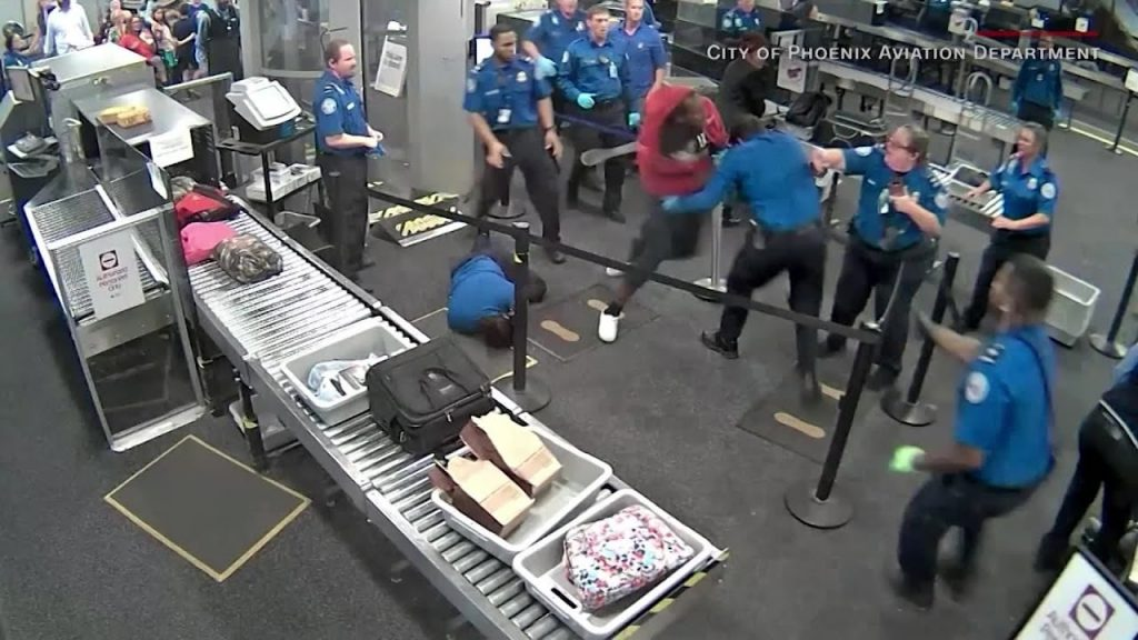 Here's the insane TSA video…