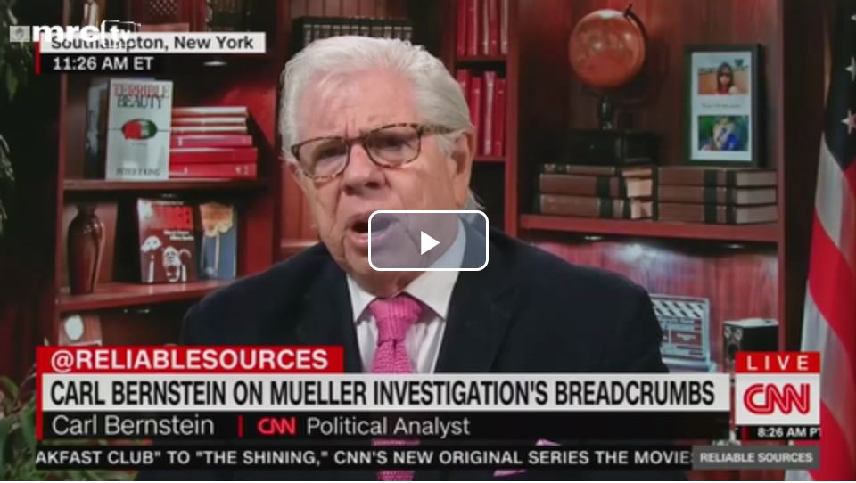 Laughing at Cupcake Carl Bernstein… Wants probe into how voters could 'possibly support' Trump…