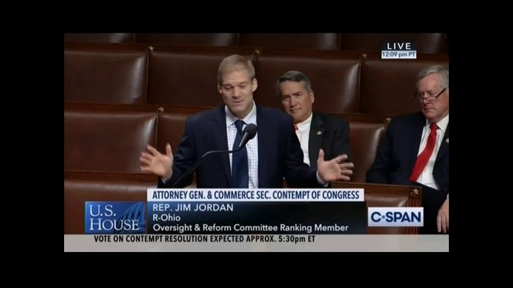 Jim Jordan fiery speech on House floor…