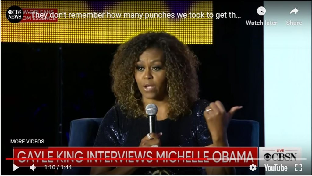 Michelle Obama… 'I was an angry black woman who was emasculating her husband at every turn'…