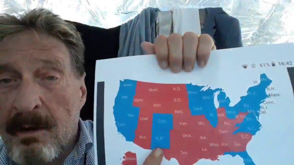 John McAfee on the Upcoming Civil War…