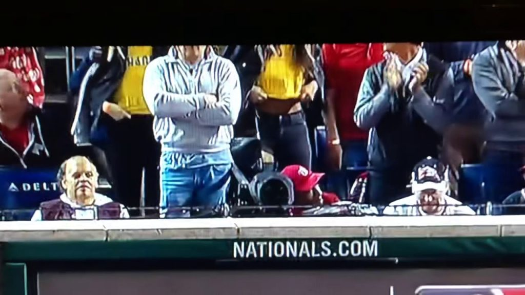 Here's the World Series boob flashing video…