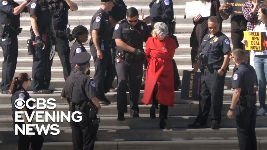 Watch Jane Fonda get arrested…
