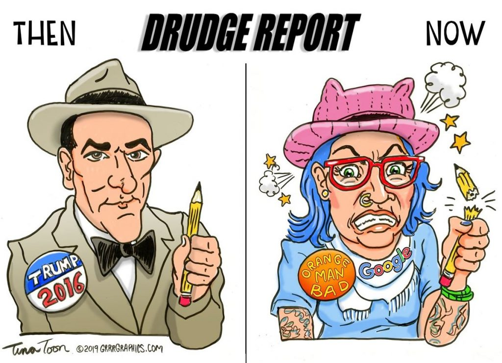 MATTCASTROPHE — Drudge Report internet traffic down 53% from peak in 2016…