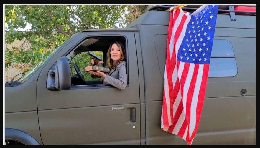 Instant karma after spitting on Trump flag…
