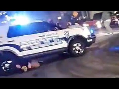 Tacoma Police SUV runs over multiple hooligans… This Is Intense…